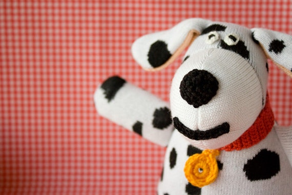 SALE Doggy Knitted Doll - a cheerful birthday gift for toddlers and kids - FrejaToys