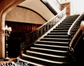 Gothic Stair Fine Art photograph (5x7 print with 8x10 mat) also available in larger sizes - dark mysterious gothic surreal
