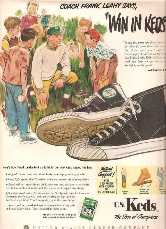 1951 Keds Advertising Original Vintage Magazine Advertising