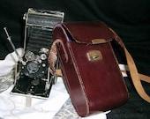 "Vintage CAMERA Certix Pronto 1930s German Folding camera w/ original Leather case & 3 rolls of (new) 120 Film / ""BEST OFFER"""