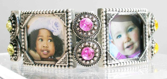 Picture Frame Photo bracelet Memory Maker Keepsake, Pet Memory Mom Grandmom Anniversary