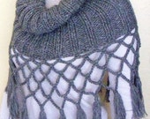 Knitting Shoulder Wrap Hand Knitted.. Its Grey and very Fashionable...