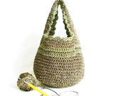 Mini bag, Spring bag, Tote Bag, Summer bag, Crochet bag, Handbag, Crochet Pouch, Handmade bag, Circle bag, Cute, Feminine, Happy bag, Purse