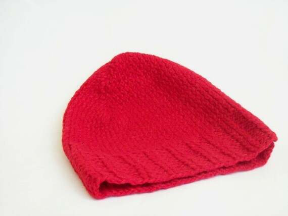 Knitted hat, Red, Cool hat, Slouchy, Cable Knit Hat, Knitted red hat, Its wool and fashionable, Cool hat, Knitting hat, Beanie, Xmas Gift