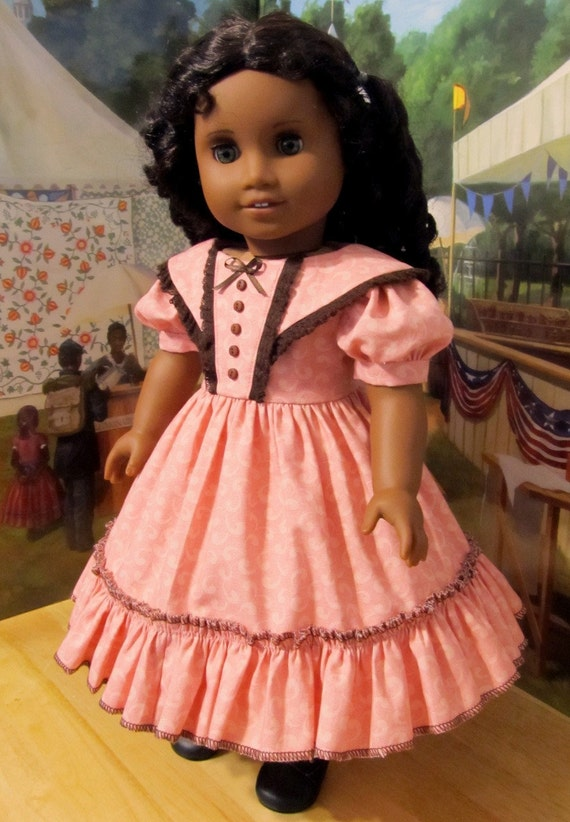 "1850's Young Girl's Fancy Gown - Fits 18"" American Girl Doll Cecile or Marie-Grace. By KeeperDollyDuds"