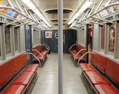 New York Antique Subway car photo, New York Photography, antique NYC subway sign, vintage sign - 8x10 fine art photograph