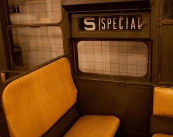 Vintage New York Subway photo, New York Photography, vintage subway signs - fine art photograph