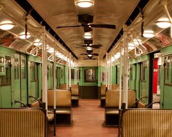 Vintage New York Subway photo, New York Photo, antique subway car - fine art photograph