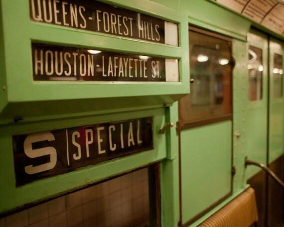 Vintage New York Subway photo, New York Photography, antique NYC subway sign - fine art photograph