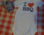 I LOVE BBQ Onesie