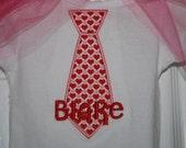 Boy's Valentines Tie Bodysuit/T-Shirt