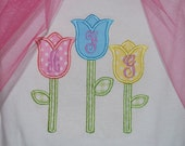 Spring/Easter Tulips Bodysuit or Boutique Shirt with Monogram