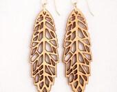 Leaf - Angles, Laser Cut Earrings