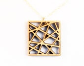 SALE - City Square, Laser Cut Necklace
