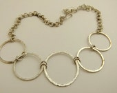 Large circle silver necklace - item 3