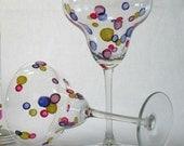 Confetti Dots Margarita Glass - Set of 2