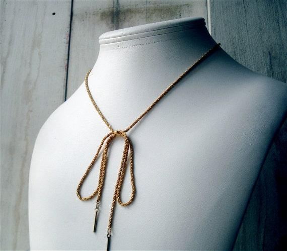 Napier Gold Bow Necklace