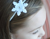 Felt Snowflake Headband or Hair Clip