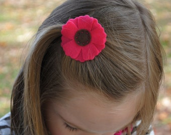 Layered Felt Flower Hair Clip