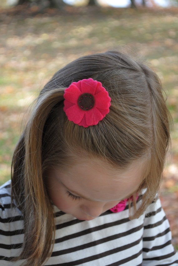 Layered Felt Flower Hair Clip