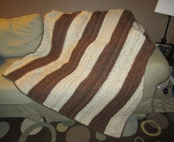 Brown and Cream Thick Stripes- VERY comfortable