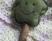 Deciduous Cousin of Happy Tree felt tapestry rattle