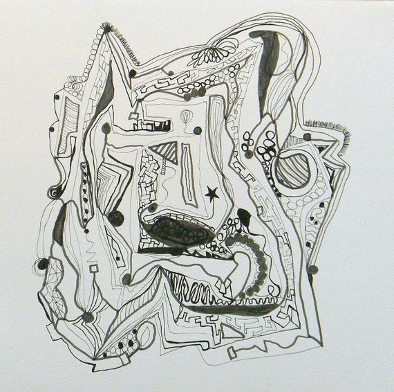 Black and White Ink Drawing