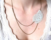 baby blue flower lace necklace // Lacy Tree Collection