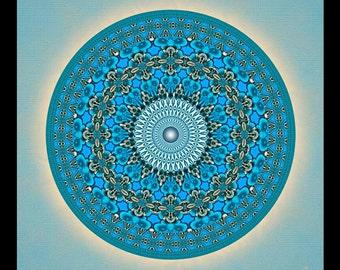Original Mandala Whale Dream, Spiritual Art, Psy Art, Visionary Art, printed on archival photopaper