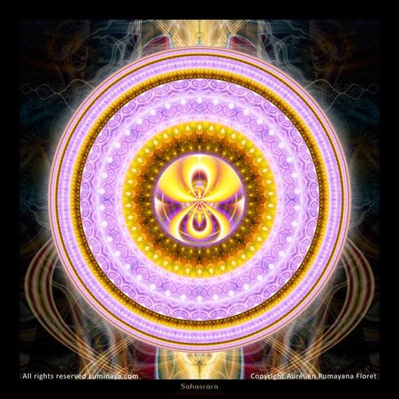 Sahasrara Chakra Mandala Crown Chakra Spiritual Art