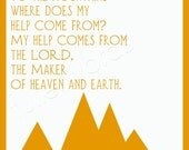 Psalm 121:1-2 -Bible Verse - digital printable word art