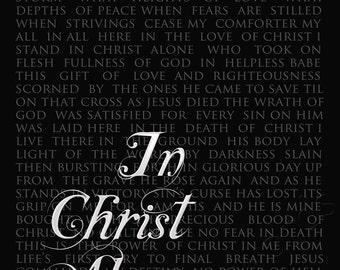 In Christ Alone -hymn lyrics - digital printable word art