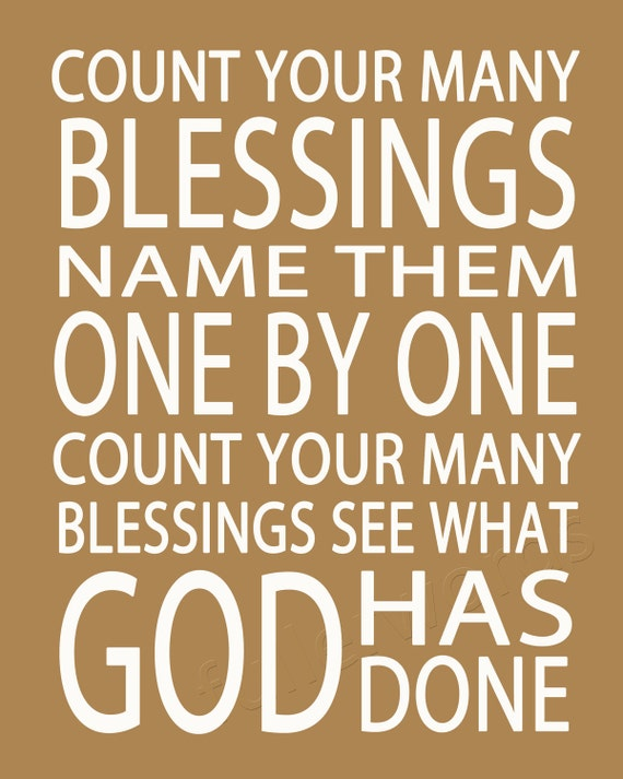 Count Your Blessings -hymn lyrics - digital printable word art