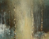 Winter Wood with Yellow Ochre and Blue Grey