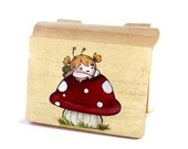 "ON SALE Collectors Edition - Numbered Wood Chest  Handpainted Chest "" Toadstool  "" - Save 4 Dollar"