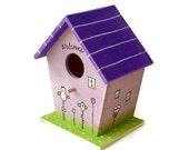 """Handpainted primitive Birdhouse - """" Owls """""""