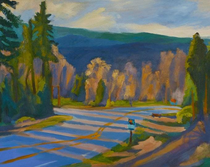 Highway 58 Oakridge Oregon Original Painting