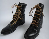Vintage Leather Military Boots