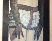 thirty two  by twenty four inch oil painting of a womans torso   hand stretched gallery wrapped original