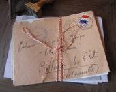 Pack of 10 French Vintage Handwritten Envelopes Stamps Postmarked 1940s onwards
