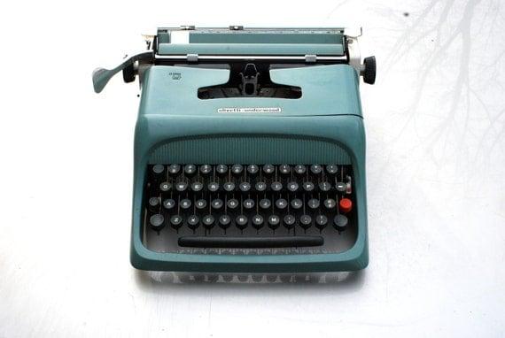 Vintage Olivetti. Underwood typewriter old school MoMA