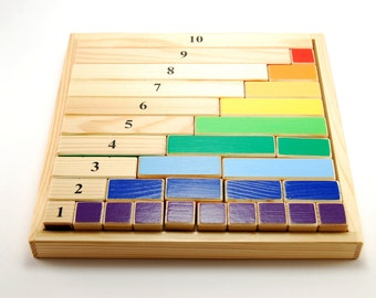 Montessori mathematical wooden game - content of numbers (age 4-8 )