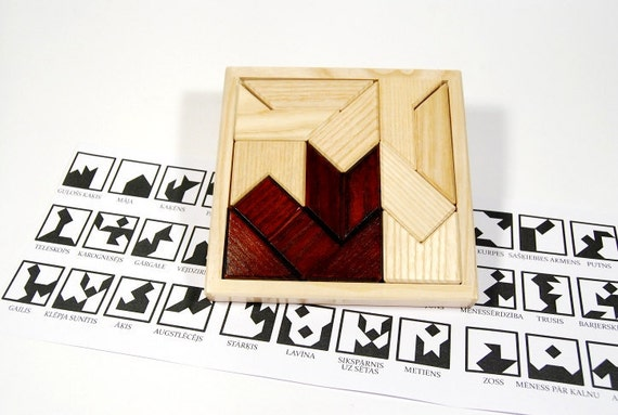Wooden logic puzzle - Eastern mosaic