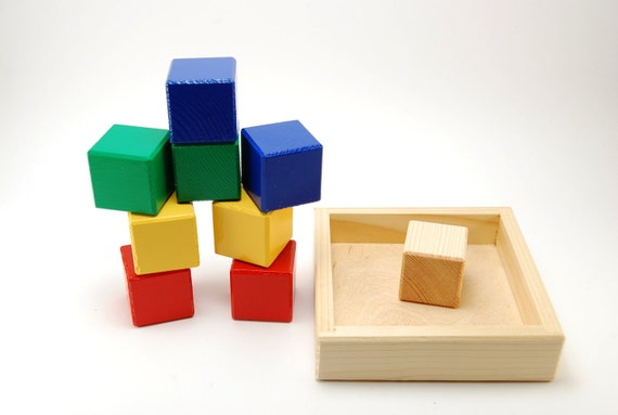Baby's ecological wooden block set (age 5months - 1,5years)