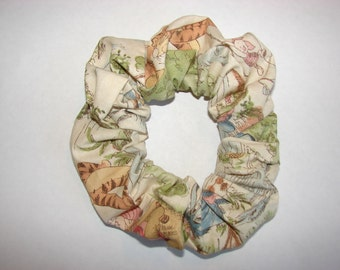 Winnie the Pooh Fabric Hair Scrunchie - scrunchies are soft colored, pooh bear, piglet, tigger, eeyore and more