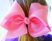 """4 Extra Large 5"""" Boutique Hair Bow Twisted Boutique Big Bow Birthday Back To School Hair Bows Photo-U Choose Colors"""