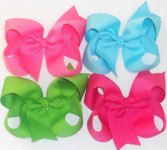 """SALE-10 Big Hair Bows Large Hair Bows Girls Bows Big Bows Large Bows Big Bow Back To School Bows-5"""" Boutique Hair Bows Toddler Hair Clip"""
