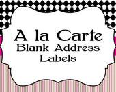 Printable A la Carte Blank Address Labels...by Party Like Paula