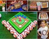 Printable Vintage Baseball Party Package...by Party Like Paula