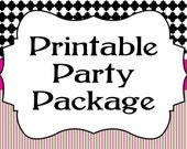 Printable Party Package...by Party Like Paula